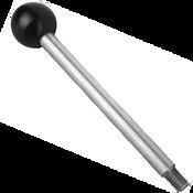 "Kipp 1/2""-13 Gear Lever, Stainless Steel, Style A, 100 mm Length (1/Pkg.), K0179.12A5X100"