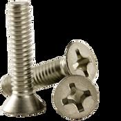"#0-80x1/4"" F/T Phillips Flat Head Machine Screws, Fine 18-8 A-2 Stainless Steel (1,000/Pkg.)"