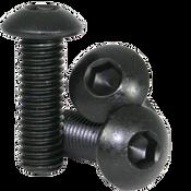 """#0-80x1/4"""" (FT) Button Socket Caps Fine Alloy  Thermal Black Oxide (100/Pkg.)"""