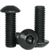 "#0-80x1/2"" (FT) Button Socket Caps Fine Alloy Thermal Black Oxide (100/Pkg.)"
