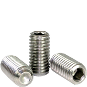 "#0-80x3/16"" Socket Set Screws Cup Point Fine 18-8 Stainless (100/Pkg.)"