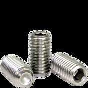 "#0-80x1/4"" Socket Set Screws Cup Point Fine 18-8 Stainless (100/Pkg.)"