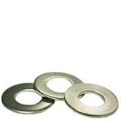 """#12x1/2""""X0.045 Flat Washers 18-8 A2 Stainless Steel, Standard (100/Pkg.)"""