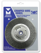 "Crimped Wire Wheels for Right Angle Grinders - Carbon Steel - 4"" X 1/2"" X 5/8"" -11, Mercer Abrasives 187010 (6/Bulk Pkg.)"