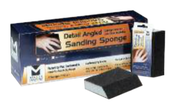 """Detail Angled Sanding Sponges - 4-7/8"""" x 2-7/8"""" x 1"""", Grade: Fine, Grit: 220, Mercer Abrasives 282AFI (12/Pkg.)"""