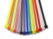 "10.8"" Colored Cable Ties 50 lb. - Assorted Color Options (1000/Bag)"