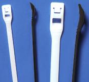 "11.3"" Natural Nylon Cobra Cable Ties - Low Profile - 50 lb. (100/Bag)"