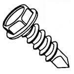 "#10-16x1-1/2"" Indent Hex Washer Head, Lgt Duty #3 Point TEKS Self Drilling Screws (USA), Bulk- Climaseal (3,000/Bulk Pkg.)"