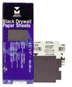 "Black Drywall Paper Sheets - 4-3/16"" x 11"", Grit/ Weight: 180D, Mercer Abrasives 245180 (100/Pkg.)"