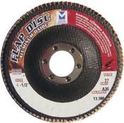 """Type 27 High Density Aluminum Oxide Flap Discs - 4-1/2"""" x 5/8"""" - 11, Grit: 60, Mercer Abrasives 260H06 (10/Pkg.)"""