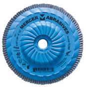 "Type 27 High Density Trimmable Zirconia Flap Discs - 4-1/2"" x 5/8"" - 11, Grit: 60, Mercer Abrasives 262T06 (10/Pkg.)"