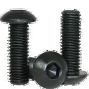 "#0-80x1/2"" (FT) Button Socket Caps Fine Alloy Thermal Black Oxide (1,000/Bulk Pkg.)"