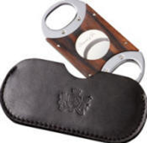 Double Guillotine Ebony  Cigar Cutter