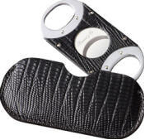 Double Guillotine Lizard Black Cigar Cutter
