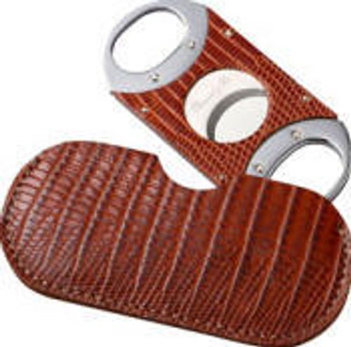 Double Guillotine Lizard Havana Cigar Cutter