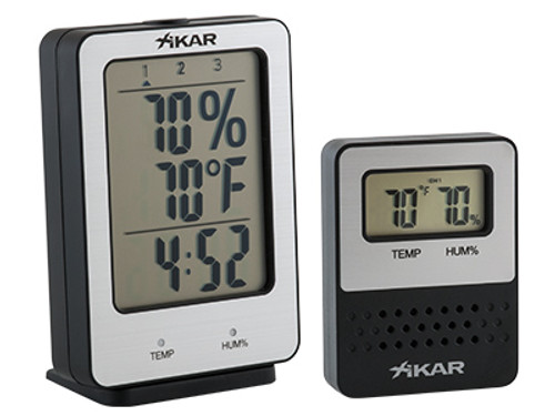 XIKAR PuroTemp Wireless Hygrometer System - includes base unit and 1 remote sensor.