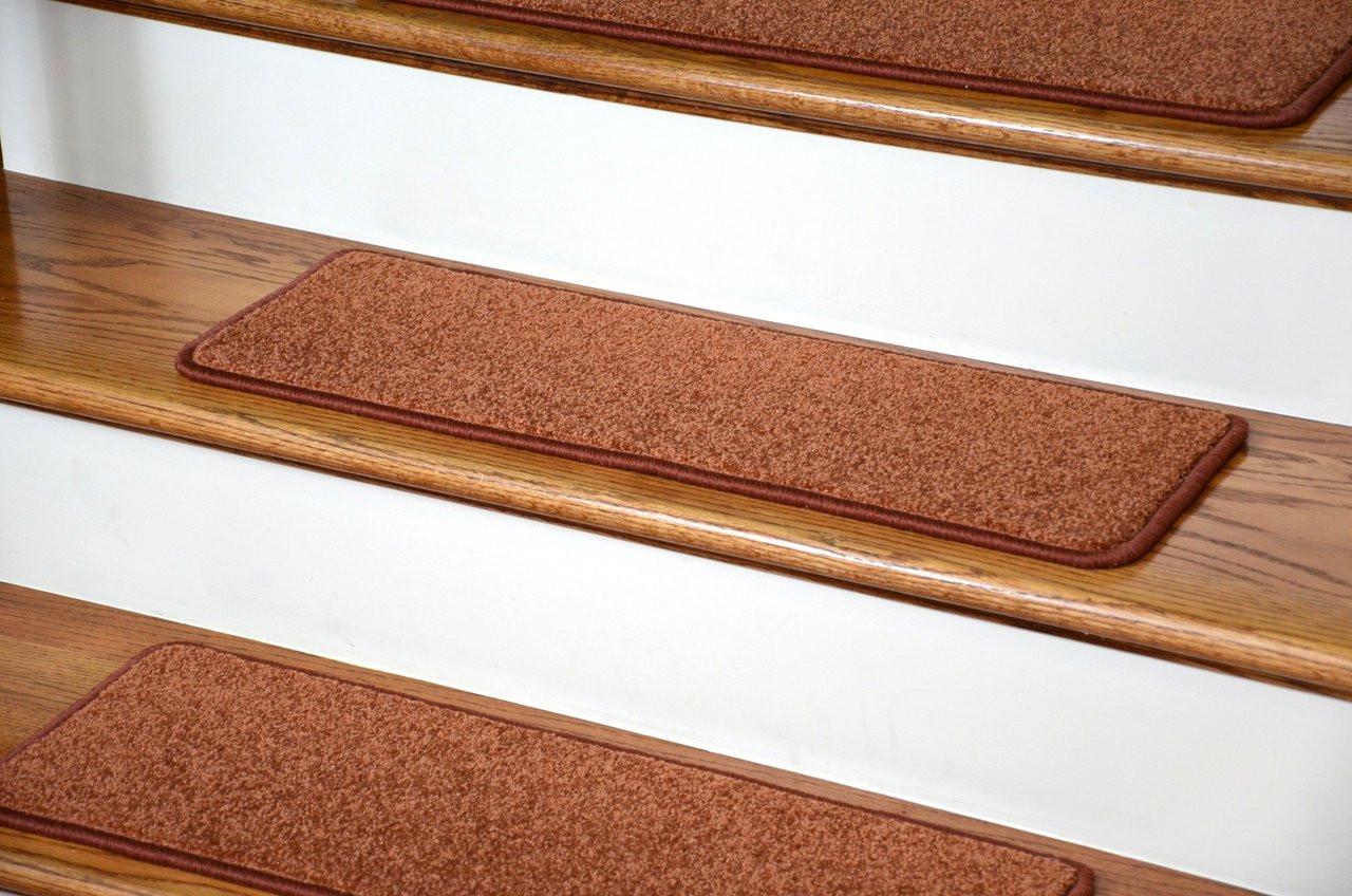 Dean Carpet Stair Treads 27 Quot X 9 Quot Maple Leaf Plush Set Of