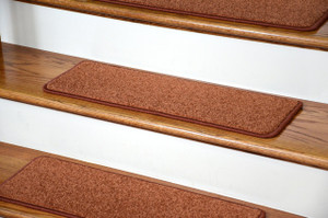 "Dean Carpet Stair Treads 27"" x 9"" Maple Leaf Plush (Set of 13)"