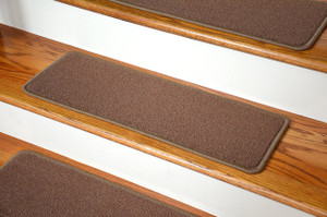 "Dean Premium Stainmaster Nylon Carpet Stair Treads - Odette Point Mantle (13) 27"" x 9"""