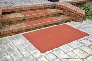 Dean Premium Indoor/Outdoor Carpet Non Skid Stair Treads And Mat   Terra  Cotta 36
