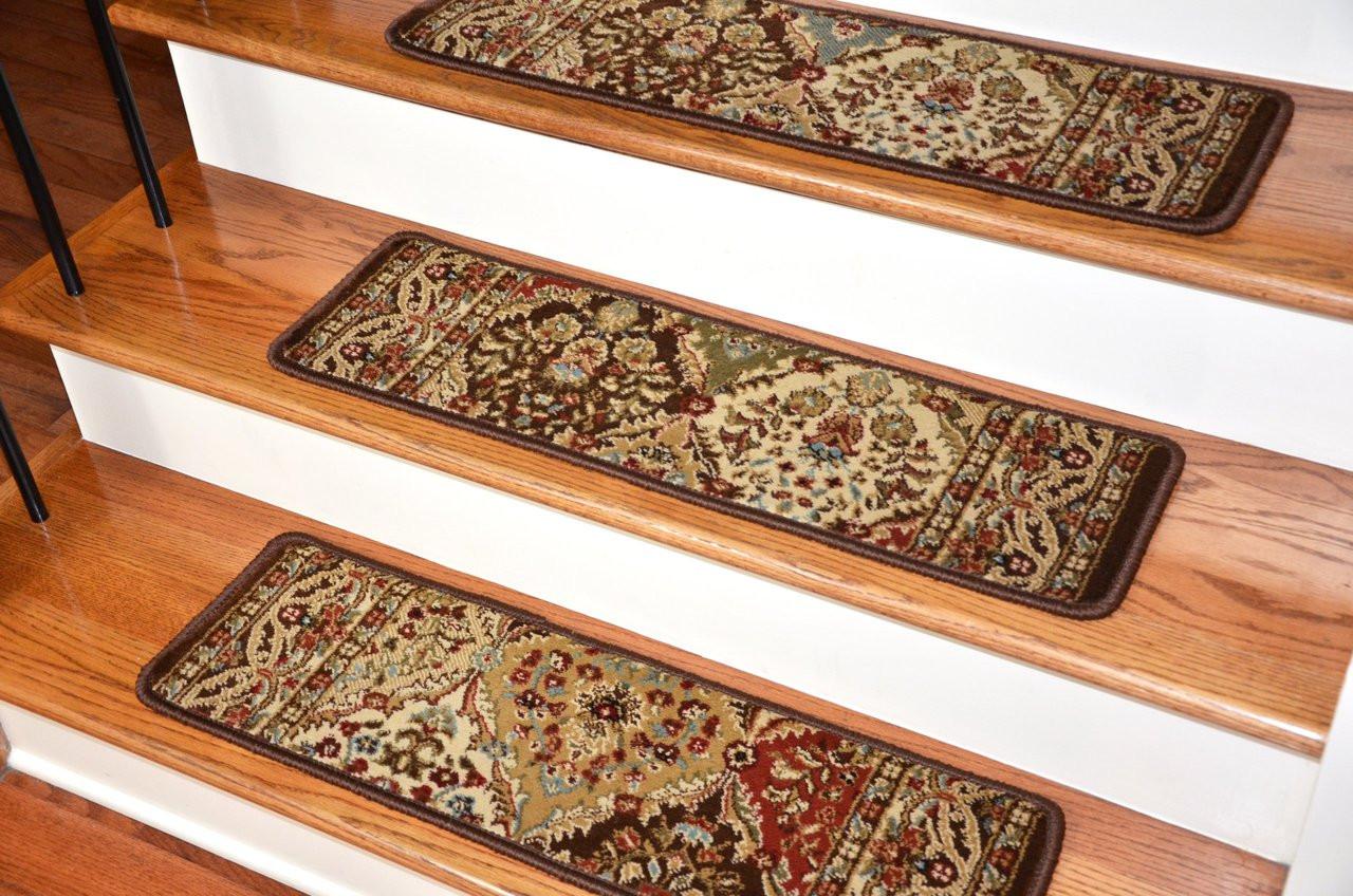 Dean Premium Carpet Stair Treads Panel Kerman Chocolate