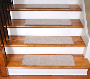 "Dean Premium Stair Gripper Tape Free Non-Slip Pet Friendly DIY Carpet Stair Treads 30""x9"" (15) - Luxor Beige"