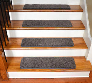 "Dean Premium Stair Gripper Tape Free Non-Slip Pet Friendly DIY Carpet Stair Treads 30""x9"" (15) - Smokey Hill Gray"