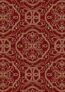 "Dean Empire Claret Red Modern Area Rug 5'3"" x 7'7"" (5x8)"