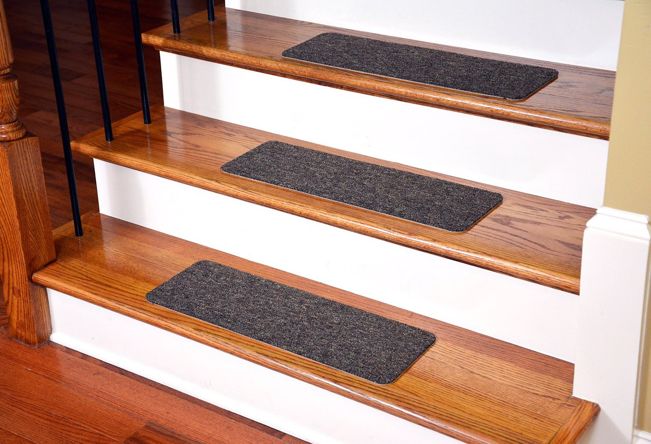 Dean Affordable Non Skid DIY Peel U0026 Stick Carpet Stair Treads   Color:  Brown Ripple   Set Of 13