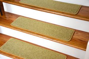 "Dean Premium Nylon Non-Slip DIY Carpet Stair Step Rug Treads - Yacht Club Gold 27"" x 9"" (Set of 15)"