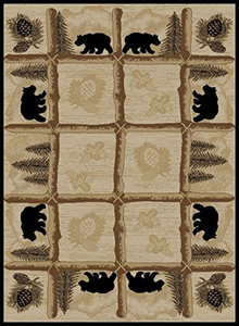 "Dean Toccoa Bear Lodge Cabin Bear Area Rug Size: 7'10"" x 9'10"" (8x10)"