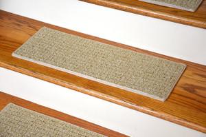 Dean Indoor/Outdoor Pet Friendly Tape Free Non Slip Carpet Stair Step Treads
