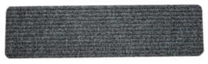 Dean Carpet Stair Treads/Runners/Mats/Step Covers - Dark Gray Ribbed Indoor/Outdoor Non-Skid Slip Resistant Rugs
