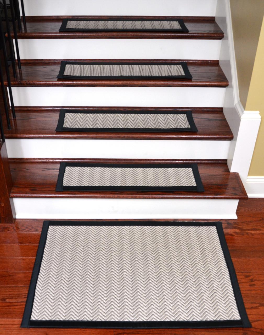 Hatteras Flatweave Stair Treads Tape Free 15 Pk