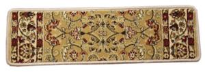 """Dean Non-Slip Pet Friendly Carpet Stair Step Cover Treads - Classic Keshan Gold 31""""W"""