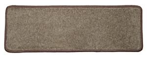 "Dean Non-Slip Tape Free Pet Friendly Stair Gripper DIY Carpet Stair Treads/Rugs 27"" x 9"" (15) - Color: Rich Earth Plush, American Made Top Quality"