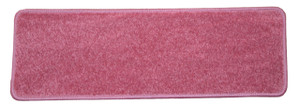 "Dean Non-Slip Tape Free Pet Friendly Stair Gripper DIY Carpet Stair Treads/Rugs 27"" x 9"" (15) - Color: Pink Plush, American Made Top Quality"