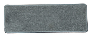 "Dean Non-Slip Tape Free Pet Friendly Stair Gripper DIY Carpet Stair Treads/Rugs 27"" x 9"" (15) - Color: Gray Plush, American Made Top Quality"