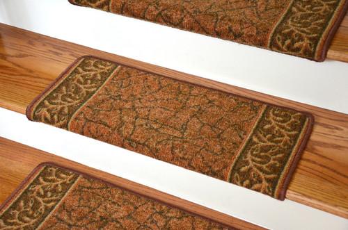 Perfect Dean Modern DIY Bullnose Wraparound Non Skid Carpet Stair Treads   Garden  Path Terra Cotta (13)