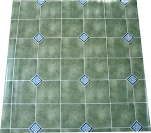 Dean Affordable Vinyl Flooring - Light Green - 6' x 82' $0.40/sf
