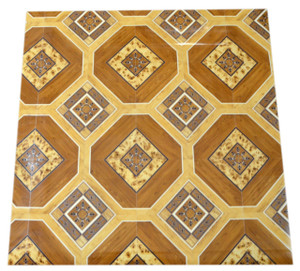 Dean Affordable Vinyl Flooring - Gold Parquet - 6' x 82' $0.40/sf