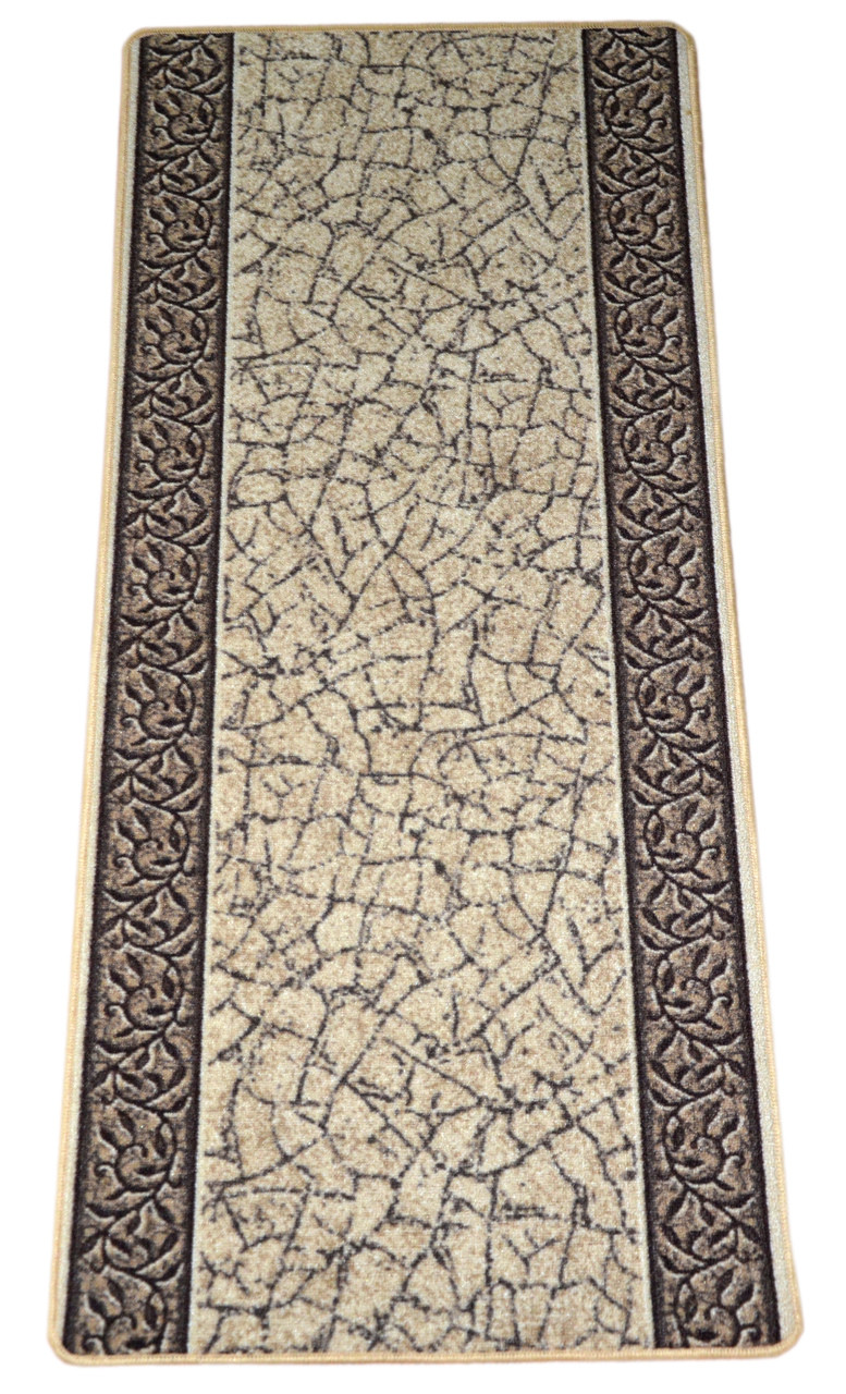 Dean Washable Carpet Rug Runner Garden Path Gold Amp Brown