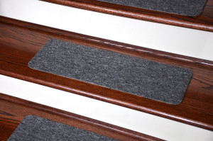 Dean Affordable Non-Skid DIY Peel & Stick Carpet Stair Treads - Color: Upshot Charcoal - Set of 15