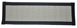 "Dean Non-Slip Tape Free Pet Friendly Dog Helper Stair Gripper Hatteras Flatweave Carpet Stair Treads - Chevron Gray/Black 29""W (15)"