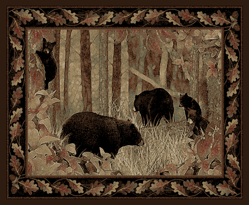 Dean Smokey Mountains Bear Lodge Cabin Area Rug Dean