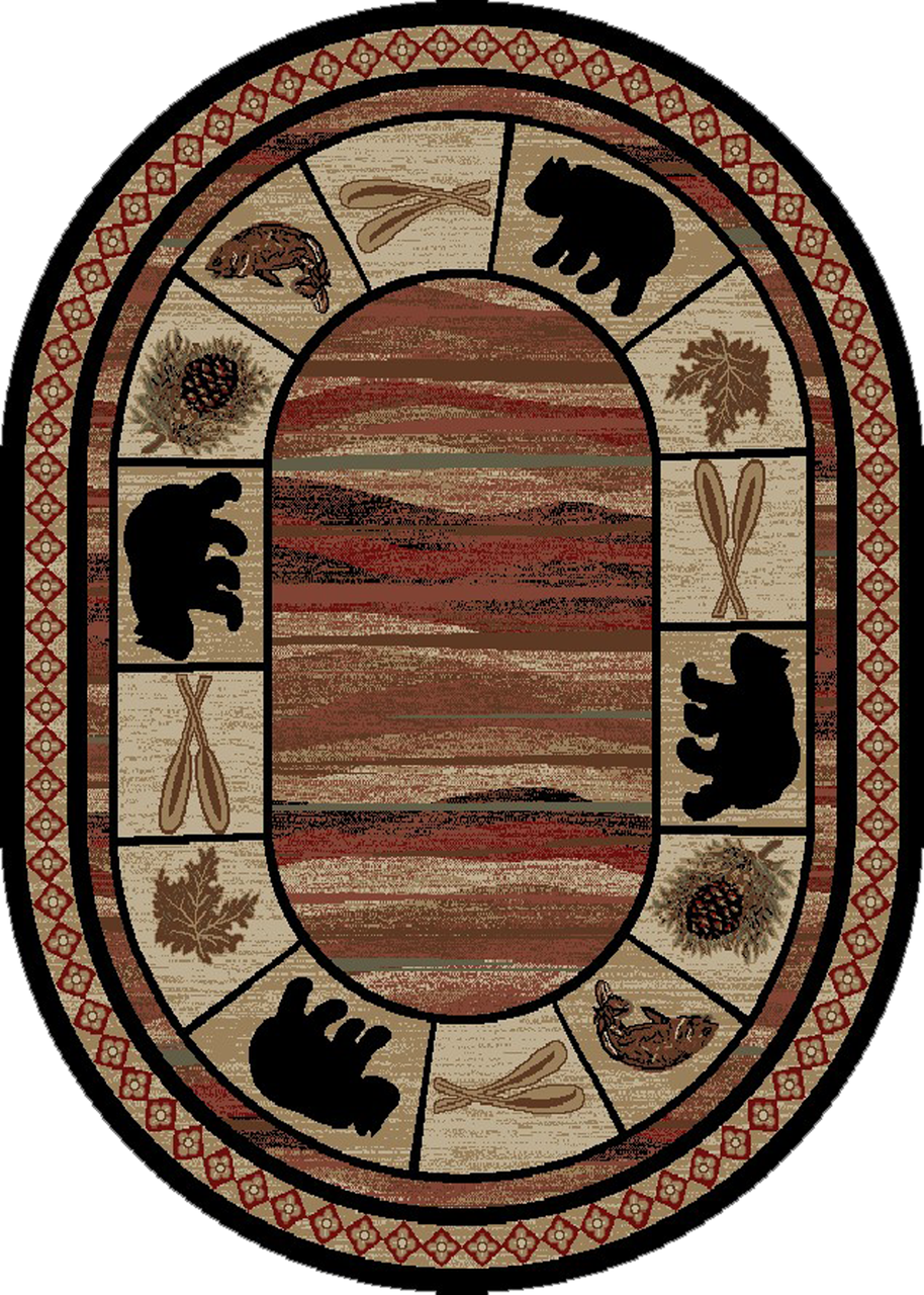 Dean Vogel Bear Lodge Cabin Bear Area Rug Size 7 10 Quot X 9