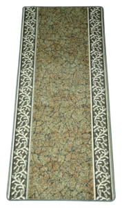 Dean Washable Carpet Rug Runner - Garden Path Green - 26 Inches Wide by 5 Feet Long