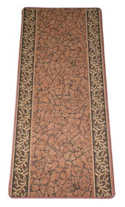 Dean Washable Carpet Rug Runner - Garden Path Terra Cotta - 26 Inches Wide by 5 Feet Long
