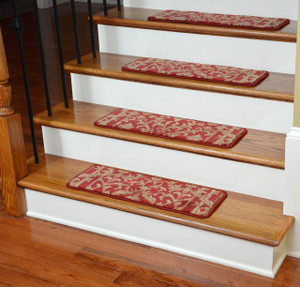 Dean Tape Free Pet Friendly Ultra Premium Non-Slip Stair Gripper Carpet Stair Treads - Baroque Spice (Set of 15)