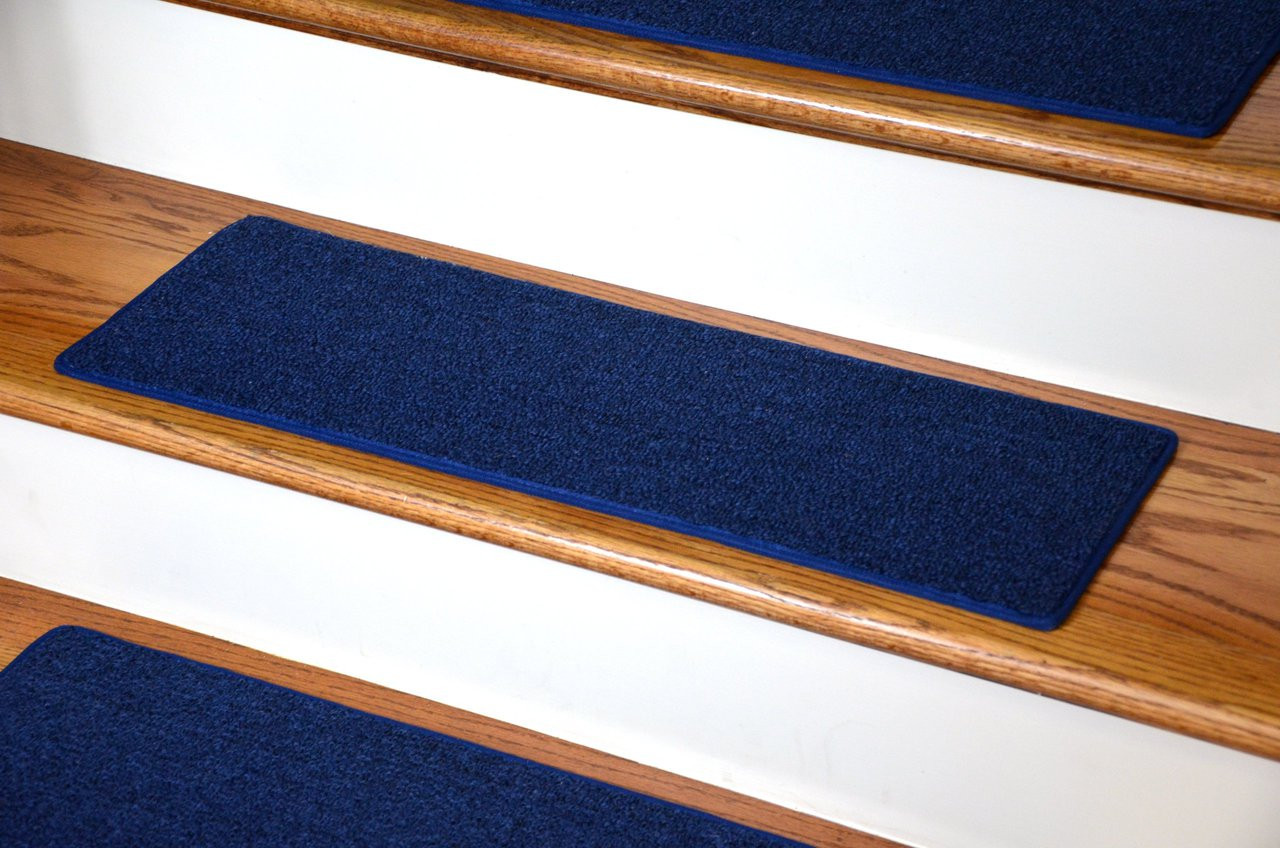 Dean Diy Carpet Stair Treads 27 Quot X 9 Quot Navy Blue Set Of